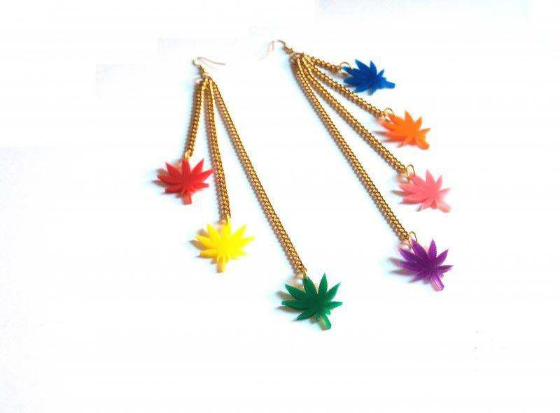 Limited Edition Chronic Rainbow Drop Earrings