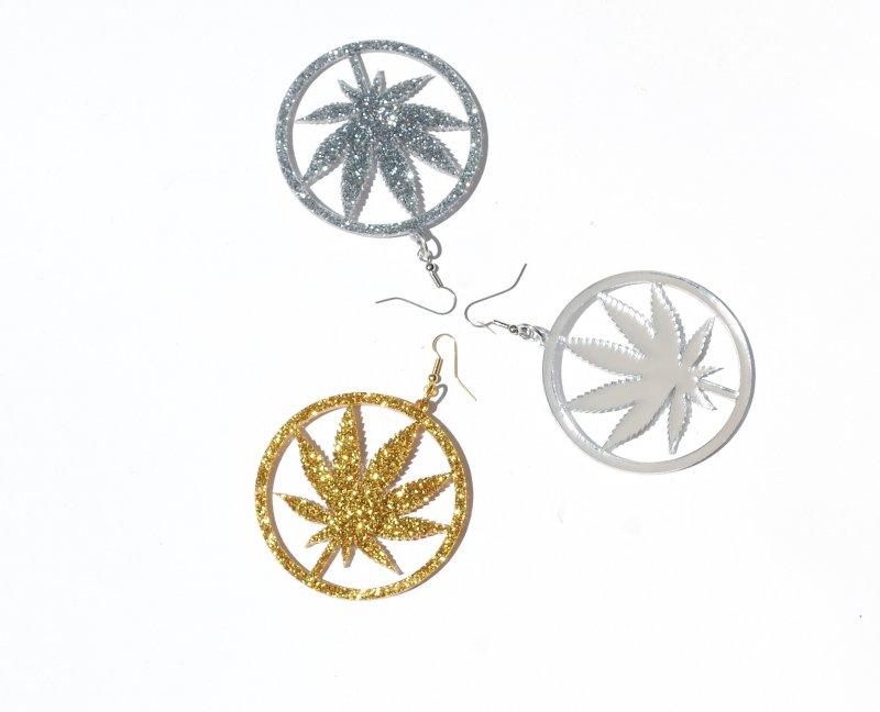 Gold Silver Mirror Chronic Hoop Earrings