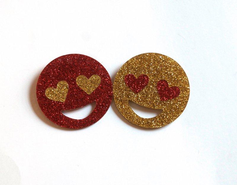 EMOJI - Heart Eyes Love Pins