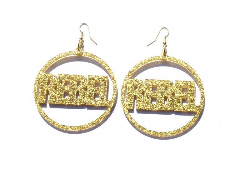 Gold Silver Rebel Hoop Earrings