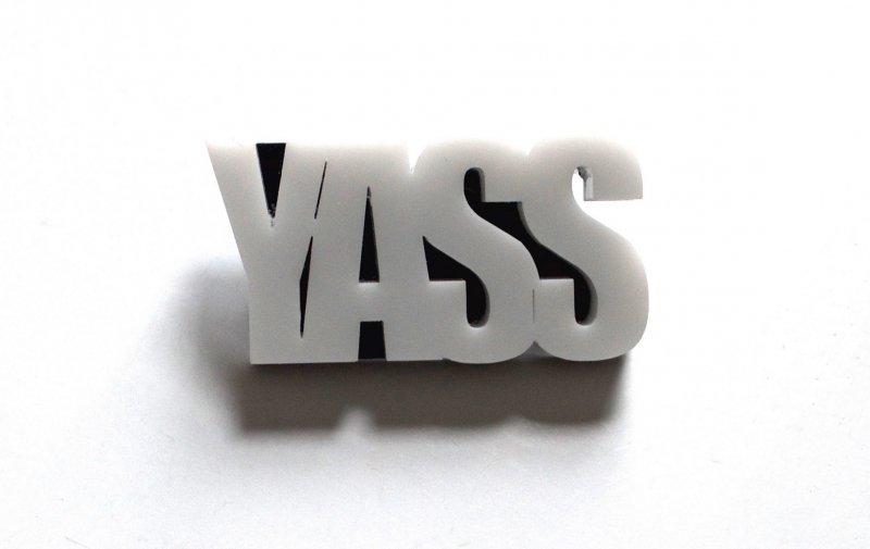 Black & White YASS Pin
