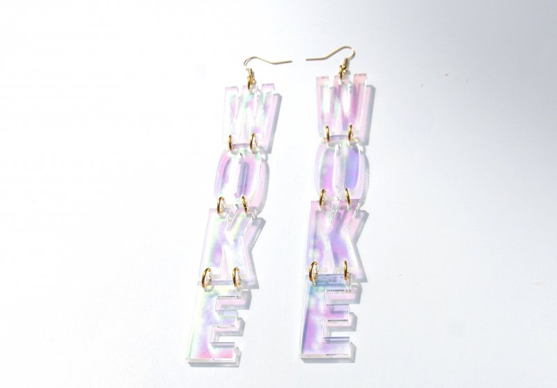NEW Iridescent Woke Drop Earrings