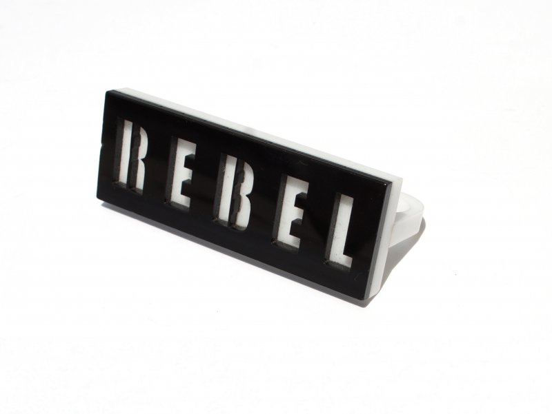 Black & White REBEL Knuckle Ring​