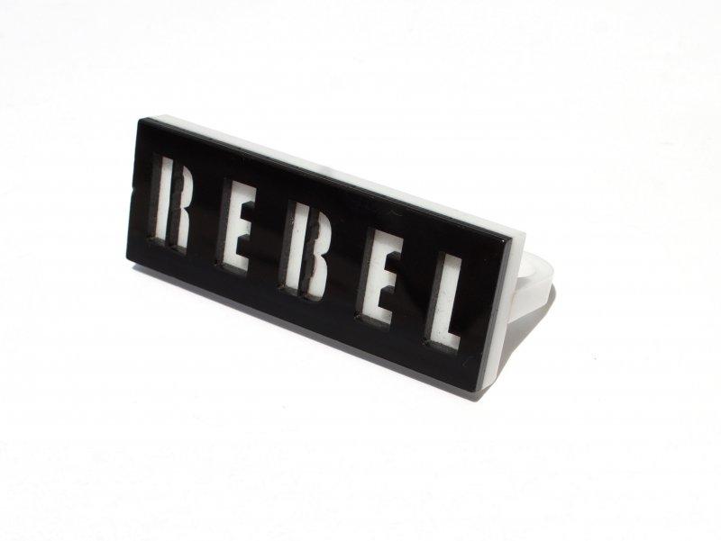 Black & White REBEL Knuckle Ring